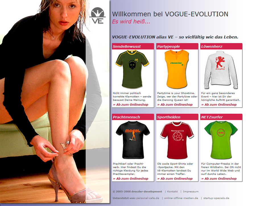 T-Shirt Onlinehsop - VOGUE-EVOLUTION alias VE